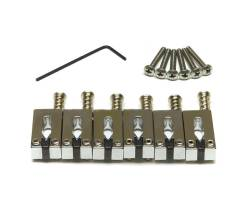 GRAPH TECH PG-8001-0C STRING SAVER CLASSICS STRAT& TELE STYLE OFFSET CHROME (6 PCS) Набор сёдел для гитар Strat/Tele