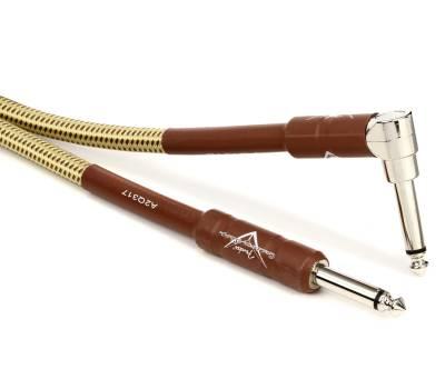 Купить FENDER CUSTOM SHOP PERFORMANCE CABLE 18.6 ANGLED TW Кабель инструментальный онлайн