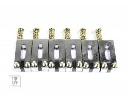 GRAPH TECH PG-8001-0C STRING SAVER CLASSICS STRAT& TELE STYLE OFFSET CHROME (6 PCS) Набор сёдел для гитар