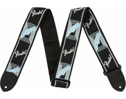 FENDER 2 MONOGRAMMED BLACK LIGHT GREY MEDIUM BLUE STRAP Ремень гитарный