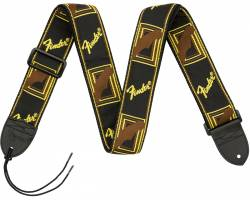FENDER 2 MONOGRAMMED BLACK/YELLOW/BROWN STRAP Ремінь гітарний