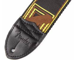 FENDER 2 MONOGRAMMED BLACK/YELLOW/BROWN STRAP Ремень гитарный