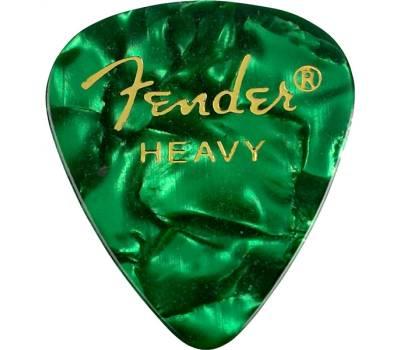 Купить FENDER 351 PREMIUM CELLULOID GREEN MOTO HEAVY Набор медиаторов онлайн