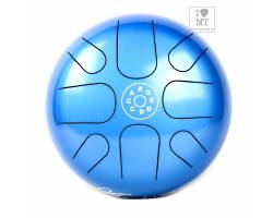 PALM PERCUSSION METAL TONGUE DRUM 8 LEAFS SPOT BLUE Глюкофон