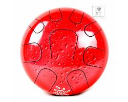 PALM PERCUSSION METAL TONGUE DRUM 9 LEAFS RED SPLASH Глюкофон