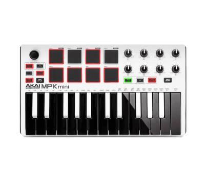 Купить AKAI MPK MINI MK2 WHITE MIDI клавиатура онлайн