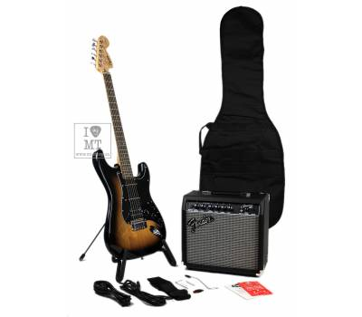Купить SQUIER by FENDER AFFINITY SERIES STRAT HSS PACK LR BS GIG BAG 15G Гитарный набор онлайн