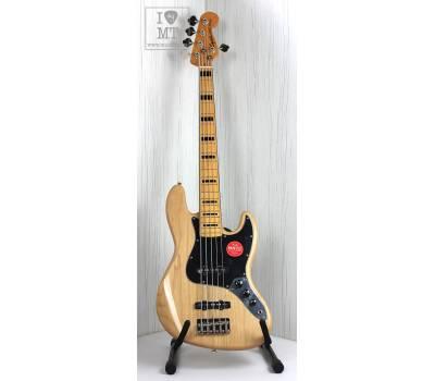 Купить SQUIER by FENDER CLASSIC VIBE '70s JAZZ BASS V MN NATURAL Бас-гитара онлайн