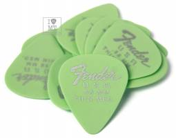FENDER 351 DURA-TONE .58 12-PACK, SURF GREEN Набор медиаторов