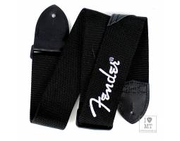 FENDER STRAP 2 BLACK WHITE LOGO Ремень гитарный