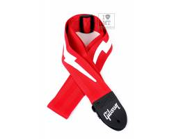 GIBSON ASGSBL-20 LIGHTNING BOLT STYLE 2 SAFETY STRAP - FERRARI RED Ремінь гітарний