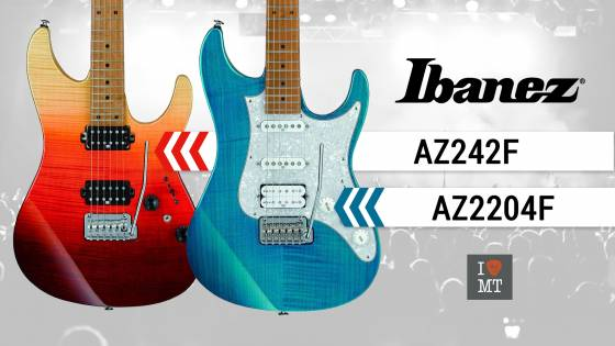 Новый видеообзор: Ibanez AZ242F и AZ2204F..