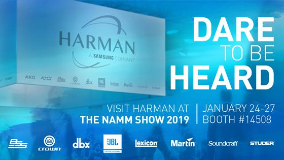 Новинки HARMAN на выставке NAMM Show 2019