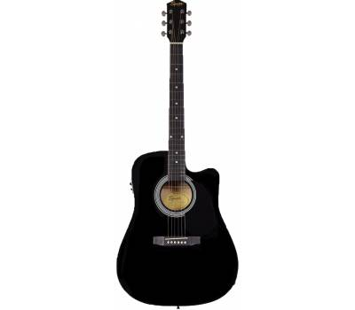 Купить SQUIER by FENDER SA-105CE BLACK Гитара электроакустическая онлайн