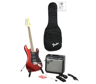 Купить SQUIER by FENDER STRAT PACK HSS CANDY APPLE RED Гитарный набор онлайн