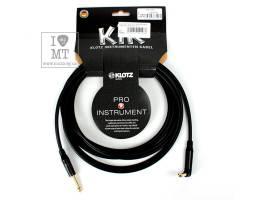 KLOTZ KIK INSTRUMENT CABLE ANGLED BLACK 4.5 M Кабель інструментальний