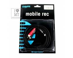 KLOTZ AY7 Y-CABLE STEREO MINI JACK - RCA BLACK 3 M Кабель комутаційний