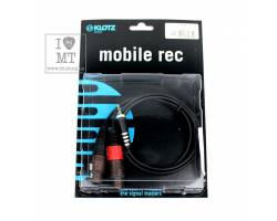 KLOTZ AY8 Y-CABLE STEREO MINI JACK - 2xXLR FEMALE BLACK 1 M Кабель коммутационный