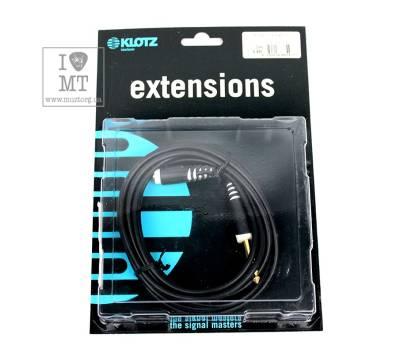 Купить KLOTZ AS-EX6 EXTENSION CABLE BLACK 3 M Кабель коммутационный онлайн