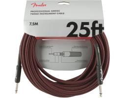 FENDER CABLE PROFFESIONAL SERIES 25' RED TWEED Кабель инструментальный