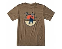 FENDER T-SHIRT SUNSET SPIRIT OLIVE M Футболка