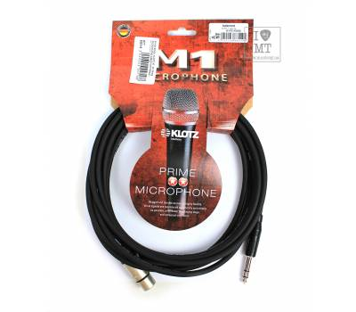 Купити KLOTZ M1 PRIME MICROPHONE CABLE XLR FEMALE - BALANCED JACK 5 M Кабель мікрофонний онлайн