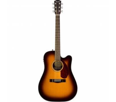 Купить FENDER CD-140SCE SUNBURST WN Гитара электроакустическая онлайн