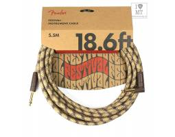 FENDER 18.6' ANGLED FESTIVAL INSTRUMENT CABLE PURE HEMP BROWN STRIPE Кабель инструментальный