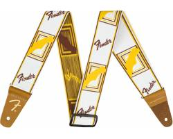 "FENDER 2"" WEIGHLESS MONOGRAMMED STRAP WHITE/BROWN/YELLOW Ремень гитарный"