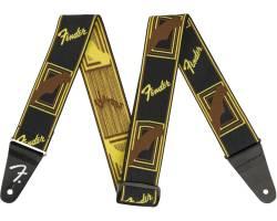 "FENDER 2"" WEIGHLESS MONOGRAMMED STRAP BLACK/YELLOW/BROWN Ремень гитарный"