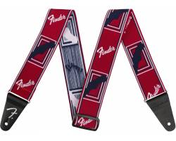 "FENDER 2"" WEIGHLESS MONOGRAMMED STRAP RED/WHITE/BLUE Ремень гитарный"