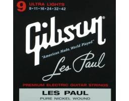 GIBSON SEG-LES LES PAUL PREMIUM ELECTRIC GUITAR STRINGS 9-42 ULTRA-LIGHT Струны для электрогитар