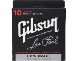 GIBSON SEG-LES LES PAUL PREMIUM ELECTRIC GUITAR STRINGS 10-46 LIGHT Струны для электрогитар