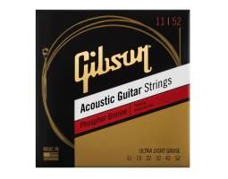 GIBSON SAG-PB11 PHOSPHOR BRONZE ACOUSTIC GUITAR STRINGS 11-52 ULTRA-LIGHT Струны для акустических гитар