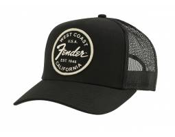 FENDER WEST COAST TRUCKER HAT BLACK Кепка