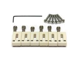 GRAPH TECH PQ-8001-L0 TUSQ Saddle Strat/Tele Style Offset - Lefty (6 Pcs) Набор сёдел для гитар