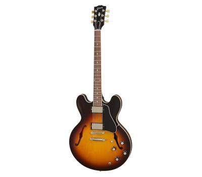 Купить GIBSON ES-335 SATIN VINTAGE BURST Гитара полуакустическая онлайн