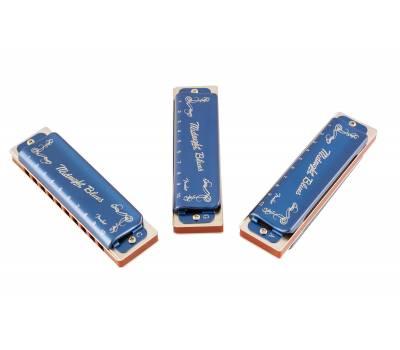 Купить FENDER HARMONICA MIDNIGHT BLUES 3-PACK WITH CASE Губная гармошка онлайн