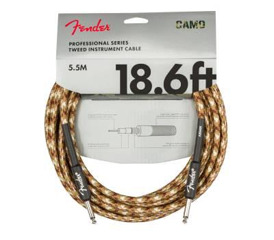 Купить FENDER CABLE PROFESSIONAL SERIES 18.6' DESERT CAMO Кабель инструментальный онлайн