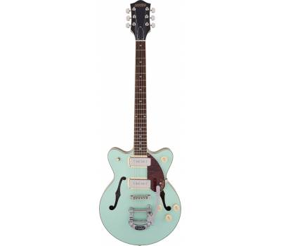 Купить GRETSCH G2655T-P90 STREAMLINER CENTER BLOCK JR. DOUBLE-CUT P90 WITH BIGSBY MINT METALLIC Гитара полуакустическая онлайн