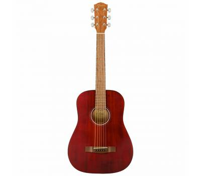 Купить FENDER FA-15 STEEL 3/4 RED WN w/BAG Гитара акустическая онлайн