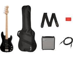 SQUIER by FENDER AFFINITY SERIES PJ BASS START PACK BLACK Гитарный набор