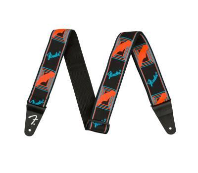 Купить FENDER STRAP NEON MONOGRAMMED BLUE ORANGE Ремень гитарный онлайн