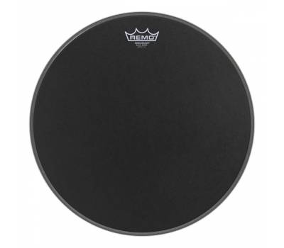 Купить REMO 14' SUEDE AMBASSADOR Black Dot On Bottom Пластик для барабана онлайн