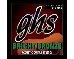 GHS STRINGS BRIGHT BRONZE SET BB10U Струни для акустичних гітар