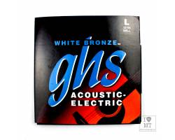 GHS STRINGS WB-L WHITE BRONZE Струни для акустичних гітар