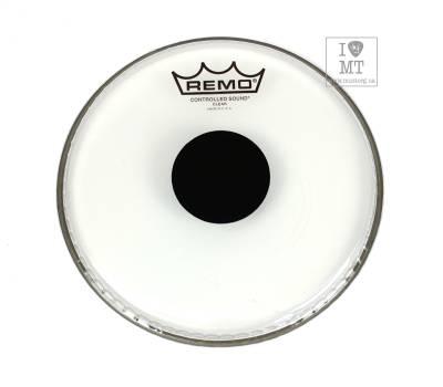 "Купить REMO Batter, CONTROLLED SOUND, Clear, 8"" Diameter, BLACK DOT On Top Пластик для барабана онлайн"
