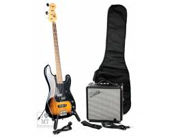 SQUIER by FENDER PJ BASS PACK BROWN SUNBURST Гитарный набор