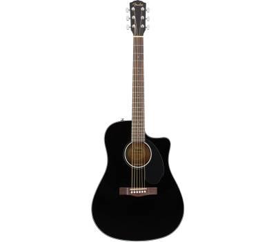 Купить FENDER CD-60SCE BLACK WN Гитара электроакустическая онлайн