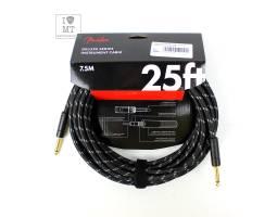 FENDER CABLE DELUXE SERIES 25' BLACK TWEED Кабель инструментальный